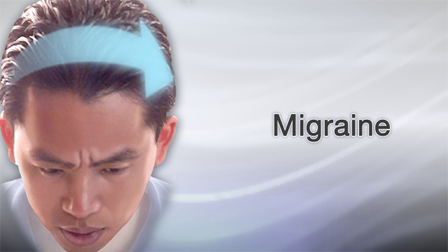 "<div class=media-desc><strong>Migraine</strong><p>Migraines aren't your average, run-of-the-mill headaches. When you have a migraine, it feels like your head is throbbing, every light is glaring, and all you want to do is lie down in a dark room. Let's talk about migraines. We know that migraines are more common in women than in men. But what exactly triggers these severe headaches is less clear, and it's different in different people. For some people the trigger is stress. For others, it's strong odors like perfumes. Changing hormones around the time of a woman's menstrual period can set off a migraine. So can certain foods like chocolate, cured meats, red wine, and aged cheese.  Doctors believe that whatever triggers a migraine sets off a chain of abnormal activities in brain chemicals and nerves. These activities affect the flow of blood through the brain. A migraine feels different than a regular headache. For one thing, it often comes with a warning. Some people get a sign that their migraine is coming, called an aura. About 10 to 15 minutes before the actual headache hits, their vision gets blurry or narrowed, and they may see stars or zigzag lines.  A migraine feels like a throbbing or pounding pain that tends to be worse on one side of the head. You may also have symptoms like nausea, vomiting, numbness, chills, and sensitivity to light or sound.  A migraine can typically last anywhere from 6 hours to 2 days. When it's over, people get what's described as a ""hangover,"" in which they feel tired and can't think clearly. If you're plagued by migraines, your doctor will help you figure out the cause. You may need to have a brain scan such as an MRI or CT, especially if you have other symptoms like memory problems or weakness with your migraines.  So, what can be done to treat migraines?