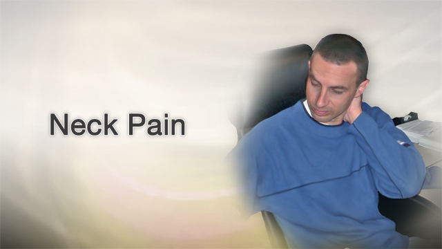 <div class=media-desc><strong>Neck pain</strong><p>Your neck is sore. It hurts to move your head. Are you sleeping wrong, is it stress, or a result of climbing that ladder to clean your gutters? Let's get to the bottom of those real pains in your neck. When your neck is sore, you may have trouble moving it, especially to one side. Many people describe this as having a stiff neck. If neck pain involves nerves, such as a muscle spasm pinching on a nerve or a slipped disk pressing on a nerve, you may feel numbness, tingling, or weakness in your arm, hand, or elsewhere. A common cause of neck pain is muscle strain or tension. Usually, everyday activities are to blame. Such activities include bending over a desk for hours hunching in place, having poor posture while watching TV or reading, placing your computer monitor too high or too low, sleeping in an uncomfortable position, or twisting and turning your neck in a jarring manner while exercising. Usually, you can treat minor neck pain at home. Simple posture improvements are a great place to start, sitting straight with shoulders held back, driving with arms on armrests, and avoiding carrying shoulder bags. Take breaks when sitting in front of video displays or holding a telephone. For pain, you might try over-the-counter pain relievers such as Advil or Tylenol. And low level laser therapy can be very effective. Physical therapy can be great for treating or preventing the recurrence of neck pain. Slow range of motion exercises, moving your head up and down, side to side from ear to ear, can gently stretch your neck muscles. Applying heat beforehand may help. Good sleep position is especially important with the head aligned with the body. You can try sleeping with a special neck pillow for that. You may want to see a doctor if your symptoms linger for longer than a week of self care, or if you have numbness, tingling, or weakness in your arm or hand, or if your pain was caused by a fall, blow, or injury. If the pain is 