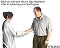 Patient and doctor work together